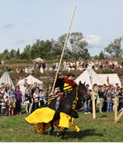 VYBORG, RUSSIA - AUGUST 17, 2013: Photo of Equestrian tournament of knights. Royalty Free Stock Image