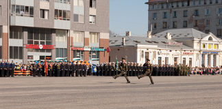 VYBORG, RUSSIA - MAY 08,2012: victory day Parade Royalty Free Stock Photos