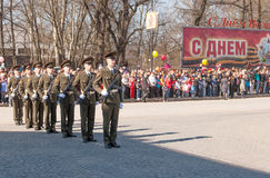 VYBORG, RUSSIA - MAY 08,2012: victory day Parade Stock Photography