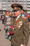VYBORG, RUSSIA - MAY 08,2012: victory day Parade Royalty Free Stock Image