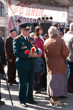 VYBORG, RUSSIA-MAY 08,2012: victory Parade in red square. War veterans Royalty Free Stock Photos