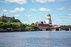 VYBORG, RUSSIA: the Medieval old castle in June 15, 2015, LENINGRAD OBLAST, Russia. Stock Photos