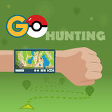 VYBORG, RUSSIA - 24th OCTOBER, 2016. Pokemon Go Navigation, Pokeball. Smart GPS for travel. Vector EPS 10 vector illustration