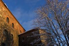 VYBORG, RUSSIE - 5 janvier 2019 vieux château de Vyborg un jour ensoleillé d'hiver froid image stock