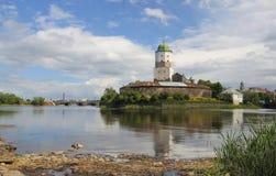 Vyborg Schloss lizenzfreie stockbilder