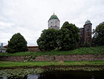 Vyborg Schloss stockfotos