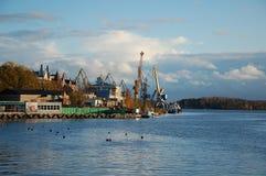 Vyborg sea port Royalty Free Stock Image