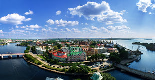 Vyborg. View of the Old City from the observation deck of the Vyborg Castle Royalty Free Stock Photography