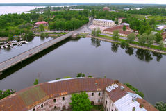 VYBORG. VIEW RFOM OLAF TOWER Royalty Free Stock Images