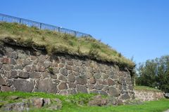 Vyborg, the wall of the Pantserlaks Bastion Royalty Free Stock Photo