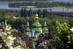 Vydubitskiy monastery in Kiev. Vydubitskiy monastery in the botanical garden in Kiev Royalty Free Stock Photography