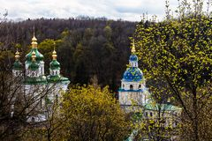 Vydubitskiy monastery in Kyiv, Ukraine Stock Photo