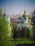 Vydubychi monastery in spring. Kyiv, Ukraine. Royalty Free Stock Images