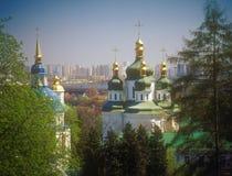 Vydubychi monastery in spring. Kyiv, Ukraine. Royalty Free Stock Image
