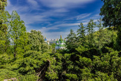 Vydubychi  monastery Stock Photography