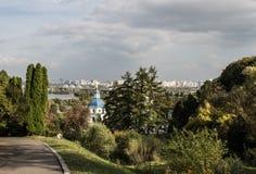 Vydubychi monastery Stock Photo