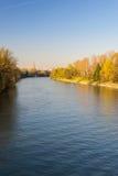 Vykort av Turin (Torino) med Po River Royaltyfri Fotografi