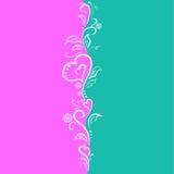 Vykort av två delar med krullning vektor illustrationer