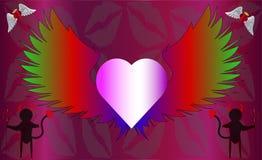Vykort för älskad vektor illustrationer
