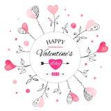 Vykort för dag för valentin s royaltyfri illustrationer