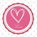 Vykort för dag för valentin` s med en härlig bild av hjärta Royaltyfri Foto