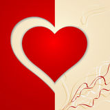 Vykort för hjärtavalentindag Arkivfoto