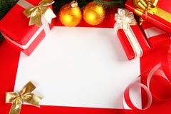 Vykort för jul eller nytt år Royaltyfria Bilder
