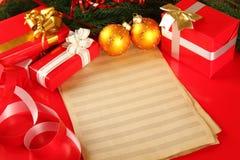Vykort för jul eller nytt år Royaltyfria Foton