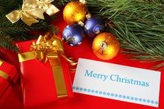 Vykort för jul eller nytt år Fotografering för Bildbyråer