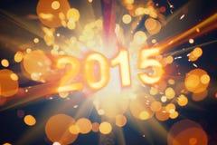 Vykort 2015 för lyckligt nytt år Royaltyfria Bilder