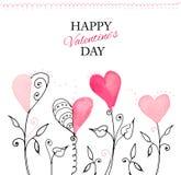 Vykort för valentin dag royaltyfri illustrationer