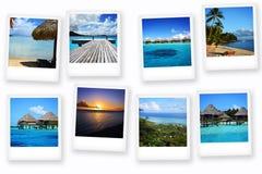 Vykort från Polynesien Arkivbilder