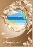 Vykort från semesterorten royaltyfri illustrationer
