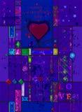 Vykort för den Valentin dagen Royaltyfri Bild