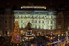 Vykort för jul för vinterferier Arkivfoto