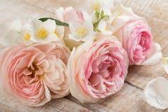 Vykort med eleganta blommor Arkivbilder