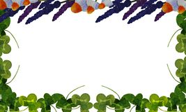 Vykort med illustrationer av medicinalväxter vektor illustrationer