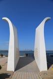 Vykort 9/11 minnesmärke i Staten Island Royaltyfria Foton