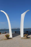 Vykort 9/11 minnesmärke i Staten Island Arkivbilder