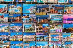 Vykort på en souvenir shoppar i Menton, Frankrike Royaltyfri Foto