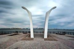 Vykort som är minnes- i den Staten ön, NY Fotografering för Bildbyråer