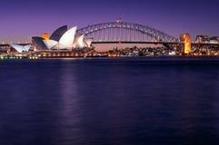 Vykort Sydney Waterfront View Arkivbild