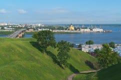 Vykort till Nizhny Novgorod Ryssland Arkivfoton