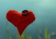 Vykort till valentin dag royaltyfria foton