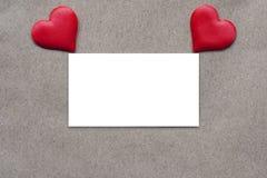 Vykortbakgrund som dekoreras med hjärtor Dekorativt kort för ferien Vanentine dag Romantisk bakgrund för valentindag, royaltyfri fotografi