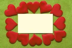 Vykortbakgrund som dekoreras med hjärtor Dekorativt kort för ferien Vanentine dag Romantisk bakgrund för valentindag, fotografering för bildbyråer