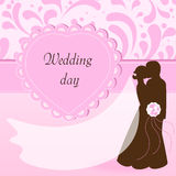 vykortbröllop Royaltyfri Foto