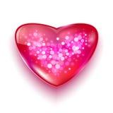 Vykortet för dag för valentin s med bokeh tänder royaltyfri illustrationer