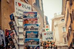 Vykortet shoppar Fotografering för Bildbyråer