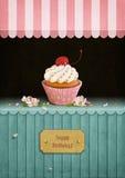 Vykortfödelsedag stock illustrationer